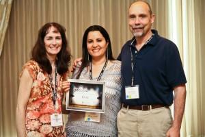 Linda Coonen, Merav Knafo, Paul Orwig at CMS Expo