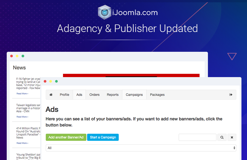 ad agency joomla extension updated for video ads