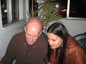 Steve and I during the usability test