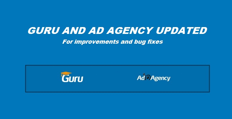 Joomla learning and ads extensions updated
