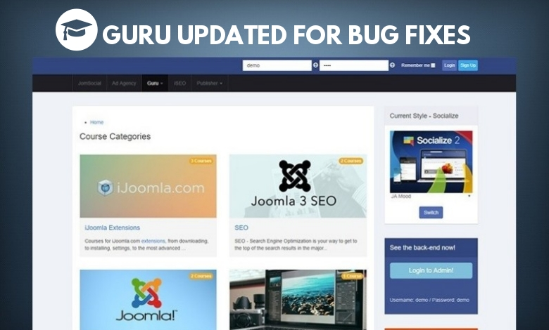 Joomla LMS Extension Guru updated