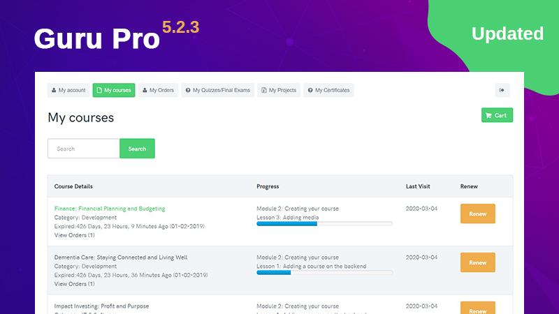Joomla lms extension guru 5.2.3 released